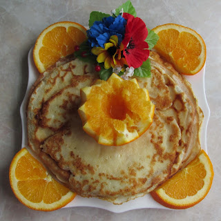 Pancakes with Flavorful Oranges.