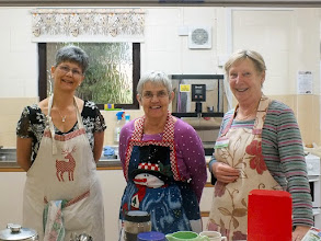 Photo: 003 The all important 5 star refreshments team, l to r: Lyndsey Bryant, Lyn Snook, Muriel Guildmant. Huge appreciation from me on behalf of everyone who was fed and watered throughout the day .