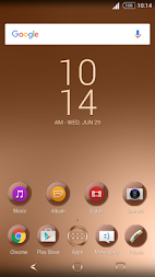 Shiny Copper Theme for Xperia APK screenshot thumbnail 8