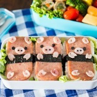 Piggy Spam Musubi Bento