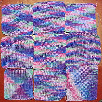 Knitted Baby Blanket Blocks