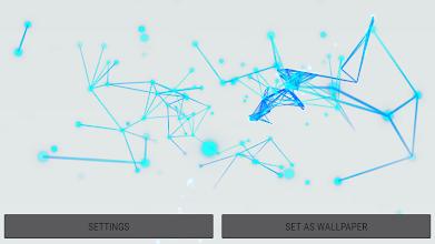 Abstract 3D Particles Live Wallpaper screenshot thumbnail