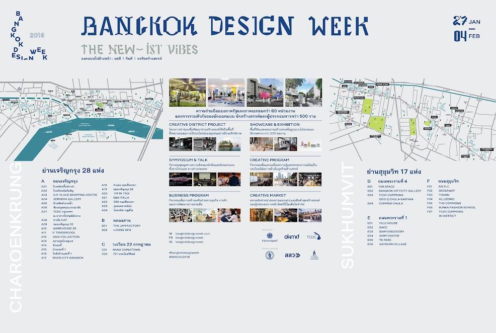 ภาพแผนที่การจัดงาน Bangkok Design Week2018