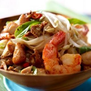 Phat Thai (Gebratene Nudeln mit Garnelen)