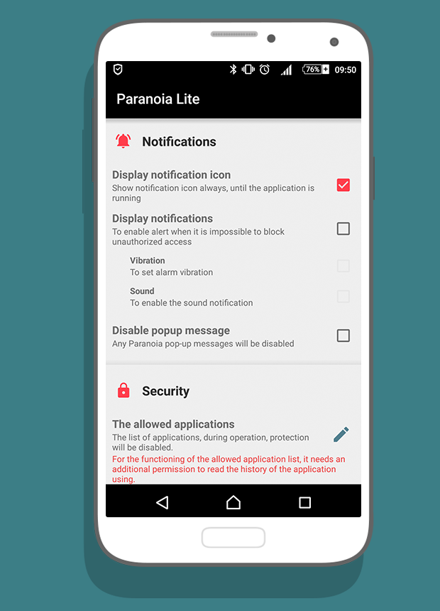 Paranoia Lite: Mic Block- screenshot