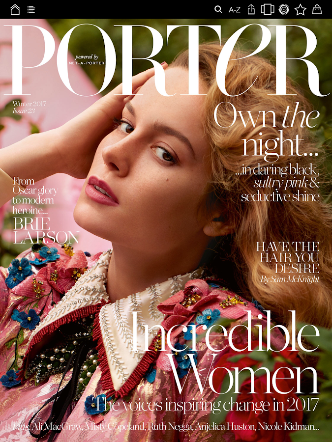 PORTER magazine- screenshot