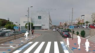 Fachada de la oficina de la empresa Aguas de El Ejido ubicada en la Plaza Mayor del municipio ejidense.
