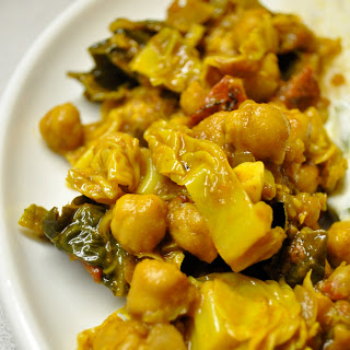 Chickpea & Cabbage Curry.