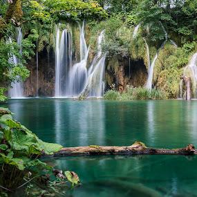 Waterfall by Celestyx Celestyx - Nature Up Close Water ( water, plitvice, waterfall, croatia, waterscapes )