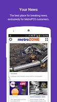 screenshot of metroZONE
