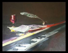 Photo: Андрей Цуп, «Натюрморт на піаніно», холст, масло, 100х70см