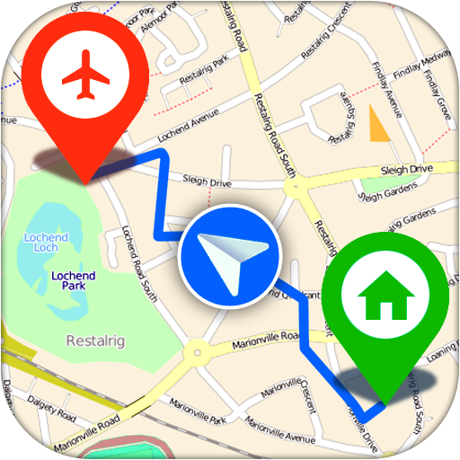 GPS, Maps, Navigation & Directions Icon