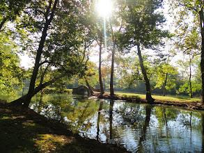 Photo: Bridge on pond islands in Eastwood Park in Dayton, Ohio.