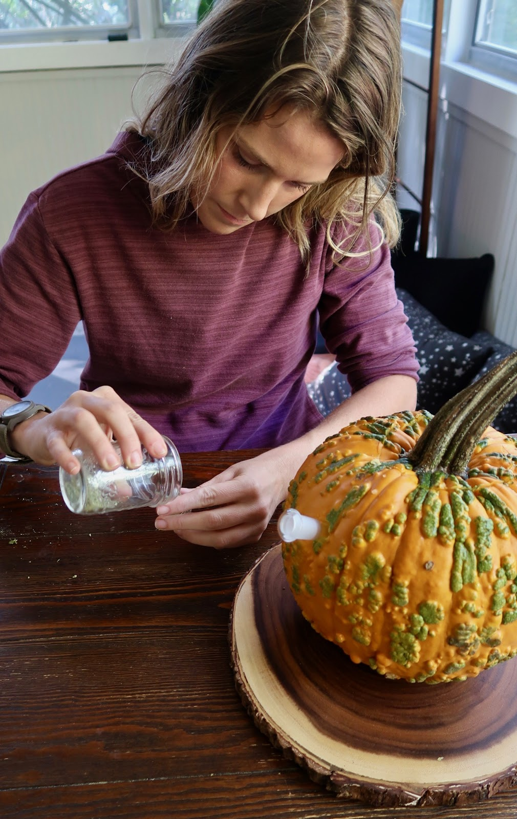 pumpkin bong wake and bake