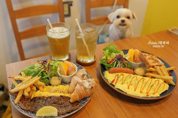 台南北區美食│肥窩咖啡~超精緻的寵物餐及可愛店狗