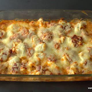 Five Minute Five Ingredient Pizza Chicken Casserole.