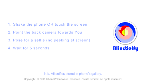 BlindSelfy Selfie Fun Game