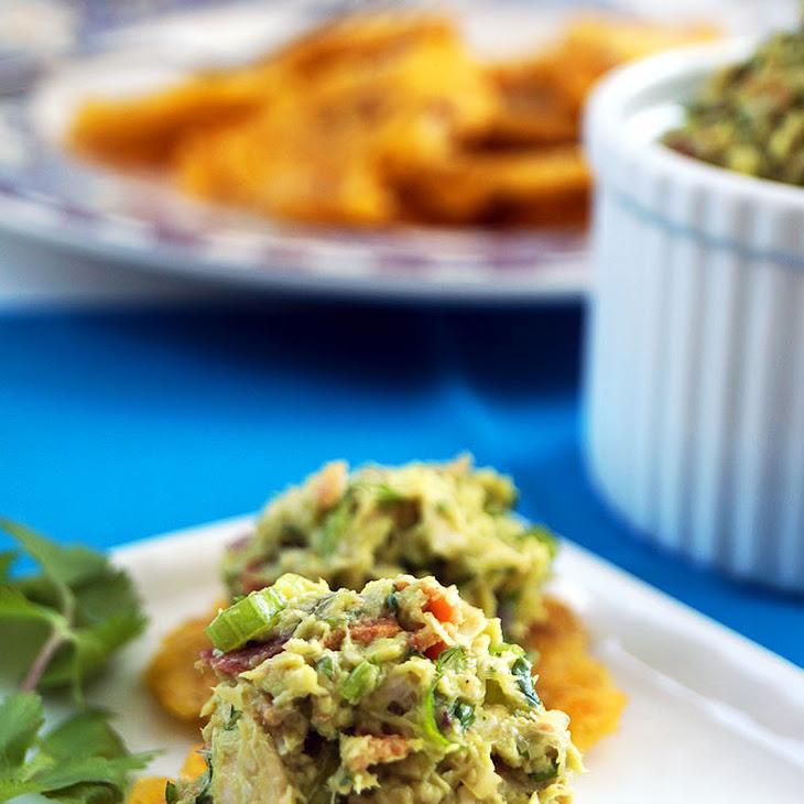 Venezuelan Reina Pepiada (Avocado Chicken Salad) with Tostones (Autoimmune Paleo, Nightshade-Free, Egg-Free) Recipe