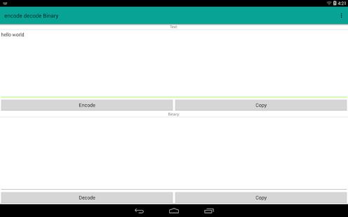encode decode Binary - náhled