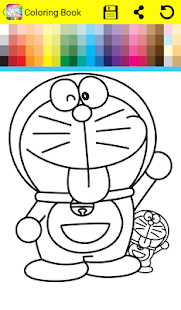 Coloring Book Dorae Cat - náhled