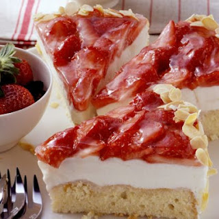 Soft Cheese Cake with Strawberry Topping.
