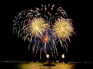 Photo: You see the fireworks best from a boat