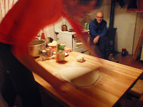 Photo: 009 Guido makes pizza in our stuga at Femunden