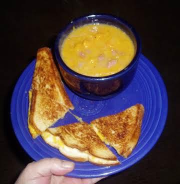 Spiral Ham & Sweet Potato Soup
