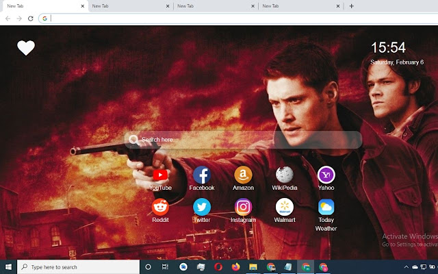 Supernatural Wallpaper HD New Tab Theme