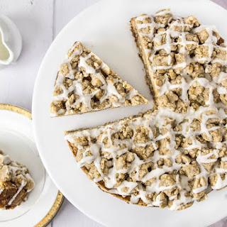 Candied Ginger & Rhubarb Crumb Coffee Cake Recipe