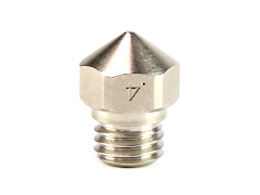 Micro Swiss Plated Brass Wear Resistant MK10 Nozzle for Flashforge - 1.75mm x 0.40mm