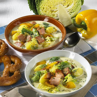 Cabbage and Cheese Soup