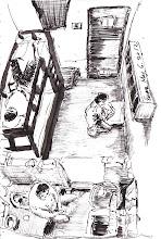Photo: 2坪以上3坪未滿 2012.05.06鋼筆 前一陣子法務部和前總統陳水扁家人為了阿扁牢房到底幾坪大展開了口水戰。扁家人稱阿扁只有0.3坪的居住空間;法務部則公佈北監相同大小的牢房指出阿扁實際有約1.38坪的空間,居住條件與同棟舍房其他收容人相同。扁家人於是又質疑扣除廁所、置物箱面積後僅剩0.3坪的空間。 說穿了,阿扁的牢房的空間是比一般收容人來說是大了些,以宜蘭監獄的現況來說2坪以上3坪未滿的牢房很少只住兩個人,大多是三或四個人共用,有時還得擠到五個人,但依法每位收容人必須要有0.7坪的使用空間,這中間的差距到底有多大,牢房裡夏天只有一支吊扇,有多悶有多擠,大家可以想像一下。 至於扣除廁所、置物箱才是個使用空間的說法,大家可以想想,建商算房子的坪數是把浴廁桌椅櫃子占用的坪數算進來還是扣掉? 阿扁自收押到入監執行,無疑成了法務部宣傳台灣獄政的的樣板,出庭穿西裝出庭其實不算禮遇前任元首,而是每位收容人的基本權益,但我還沒看過宜監有誰出庭是穿自己體面的衣服的,一般收容人借提還押要在新收房考核數週,前任民代只要待個兩天就可以,這種遇到權貴就變的獄政現況,真是丟台灣人的臉!