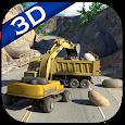 Landslide Rescue Op: Excavator