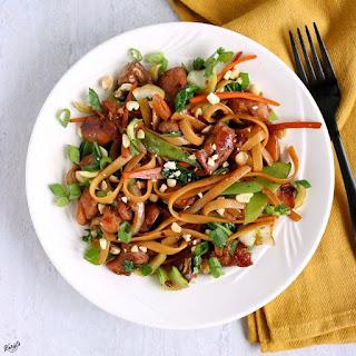 Spicy Thai Noodles Stir Fry.