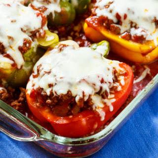 Lasagna Stuffed Peppers.