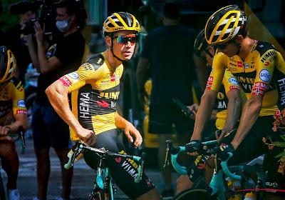 """Wout van Aert moest Tom Dumoulin helpen in tweede etappe: """"Het was belangrijk dat iemand hem steun gaf"""""""