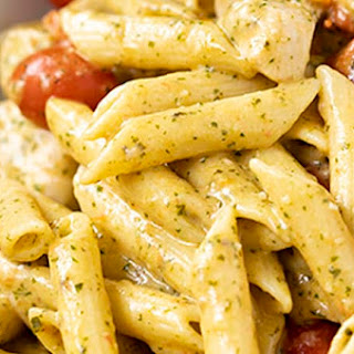 One Pot Creamy Chicken Pesto Pasta Recipe