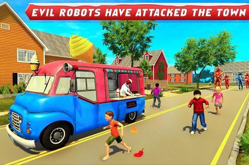 Ice Cream Robot Truck Game - Robot Transformation filehippodl screenshot 4