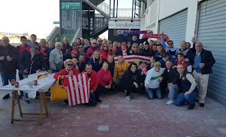 Aficionados del Almería en Elche