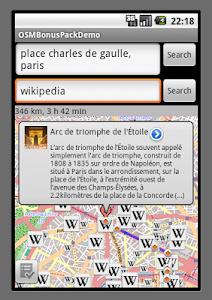 OSMNavigator screenshot 2