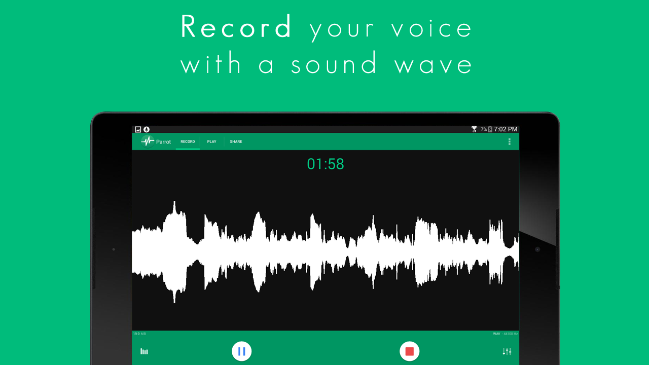 Parrot - Voice Recorder - 屏幕截图