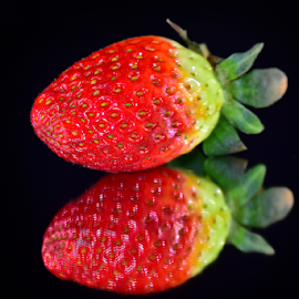 red strawberry by LADOCKi Elvira - Food & Drink Fruits & Vegetables ( floral, plants, strawberry, garden, flower )