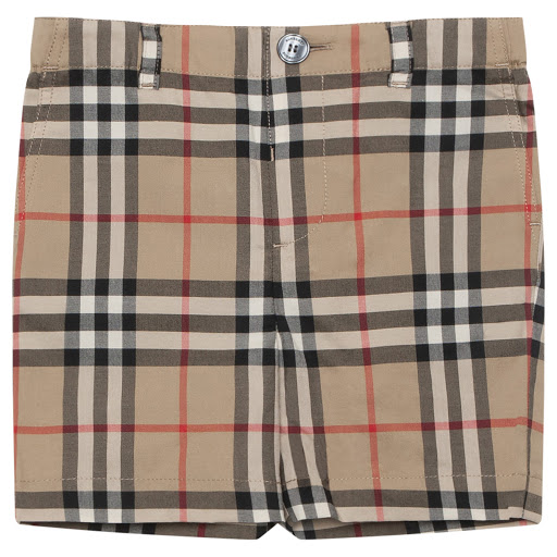 Primary image of Burberry Baby Checked Shorts