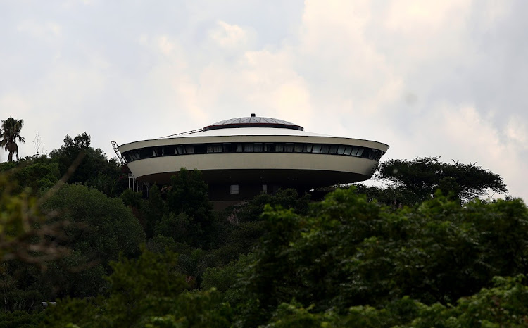 For R50,000 you could live in the UFO House on the top of the hill.