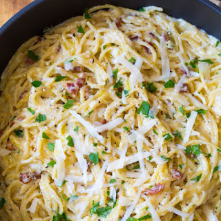 One Pot Spaghetti Carbonara.