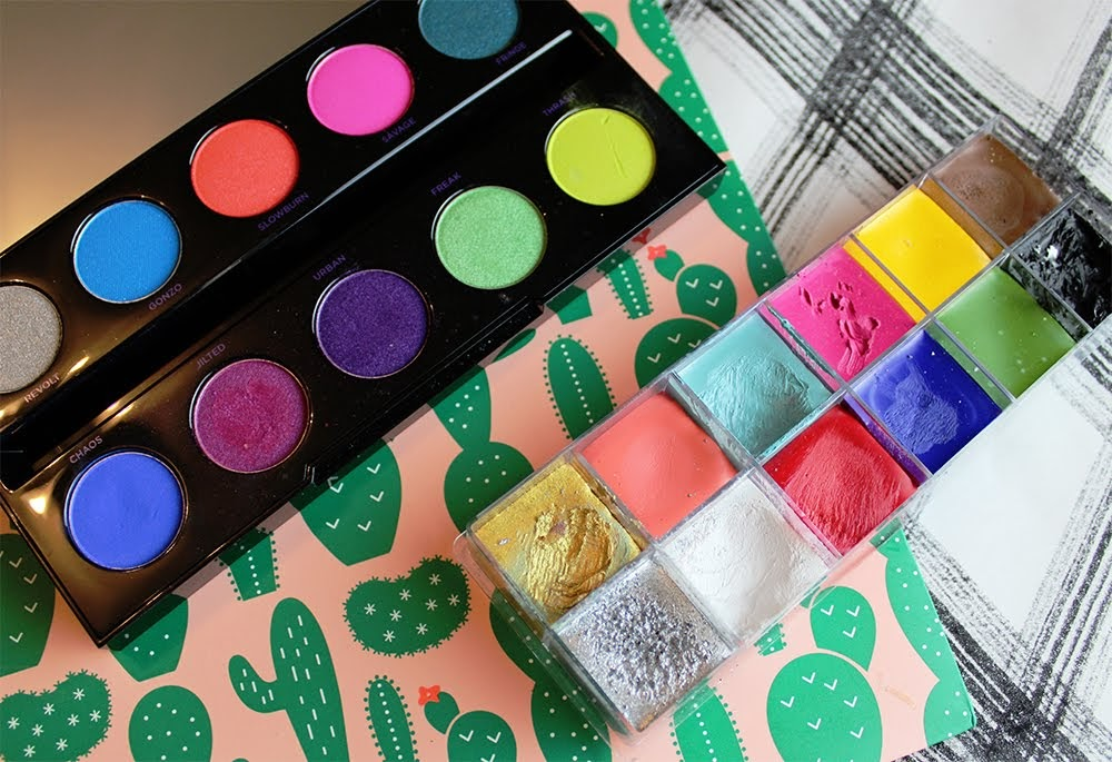 eyeshadow urban decay electric palette make up for ever cream palette