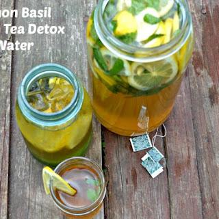 Lemon Basil Green Tea Detox Water.