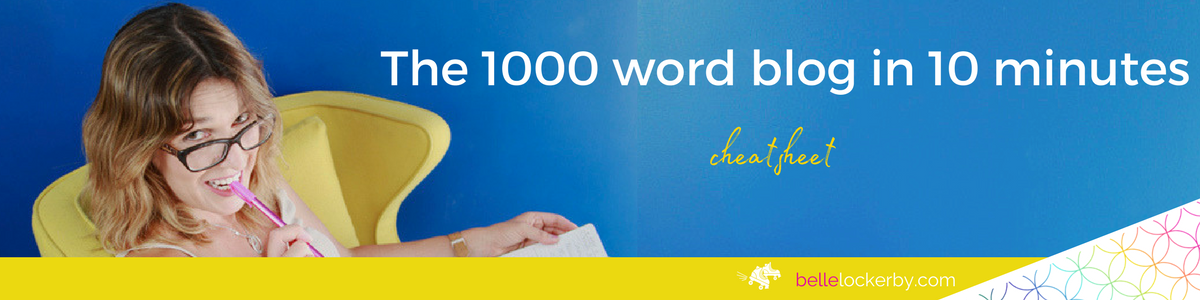 get the cheat sheet to write a blog in 10 minutes