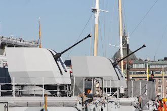 Photo: HMS Koster (M73), HMS Kullen (M74) Bofors 40 mm automatkanoner.